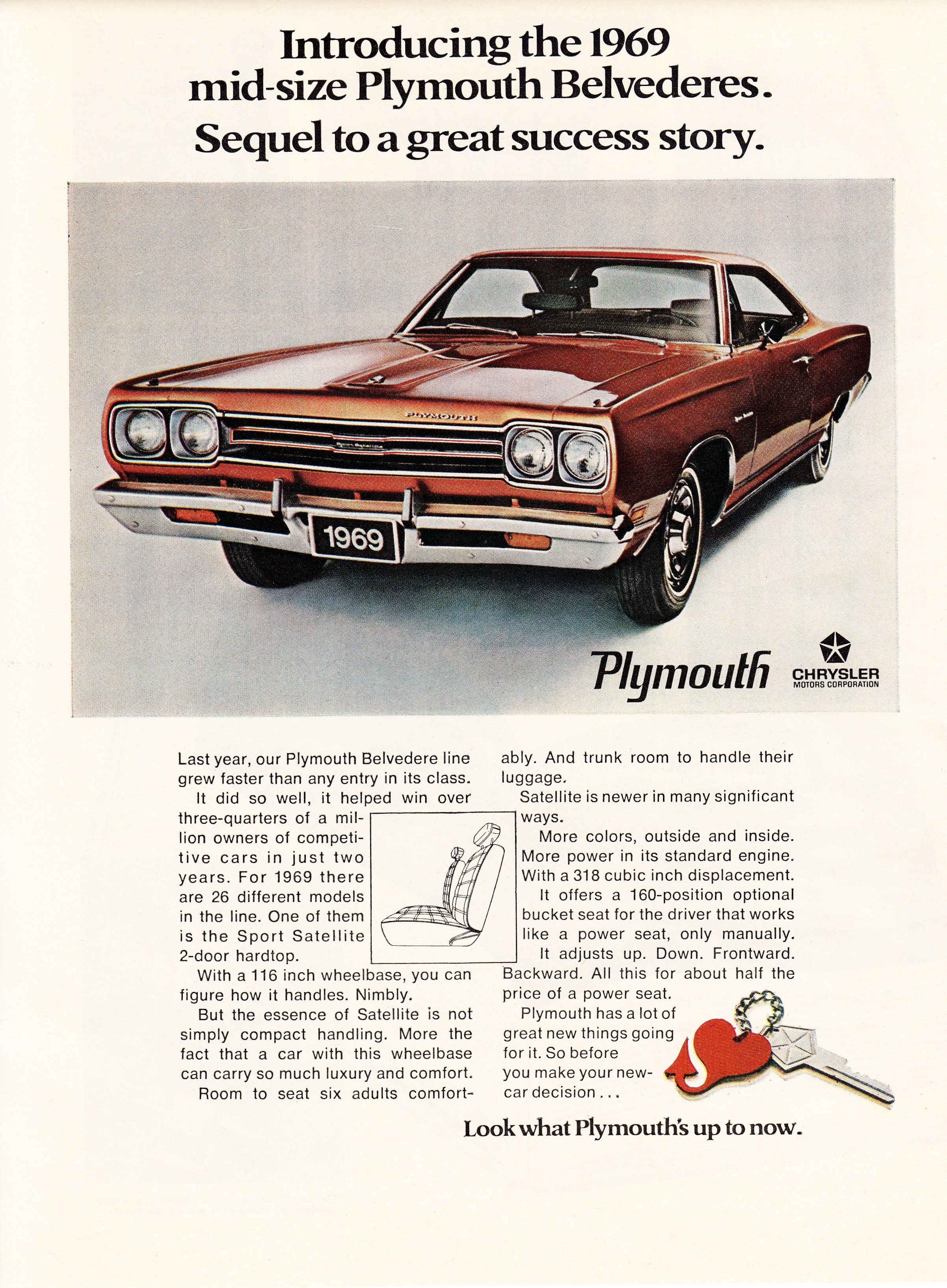 1969 Plymouth Belvedere.