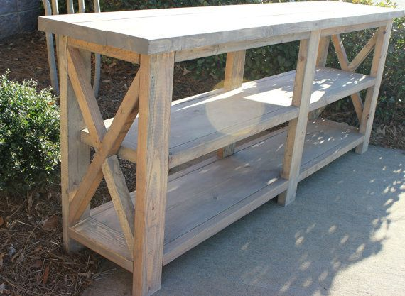 6 Foot Handcrafted Farmhouse Console Sofa Table Solid