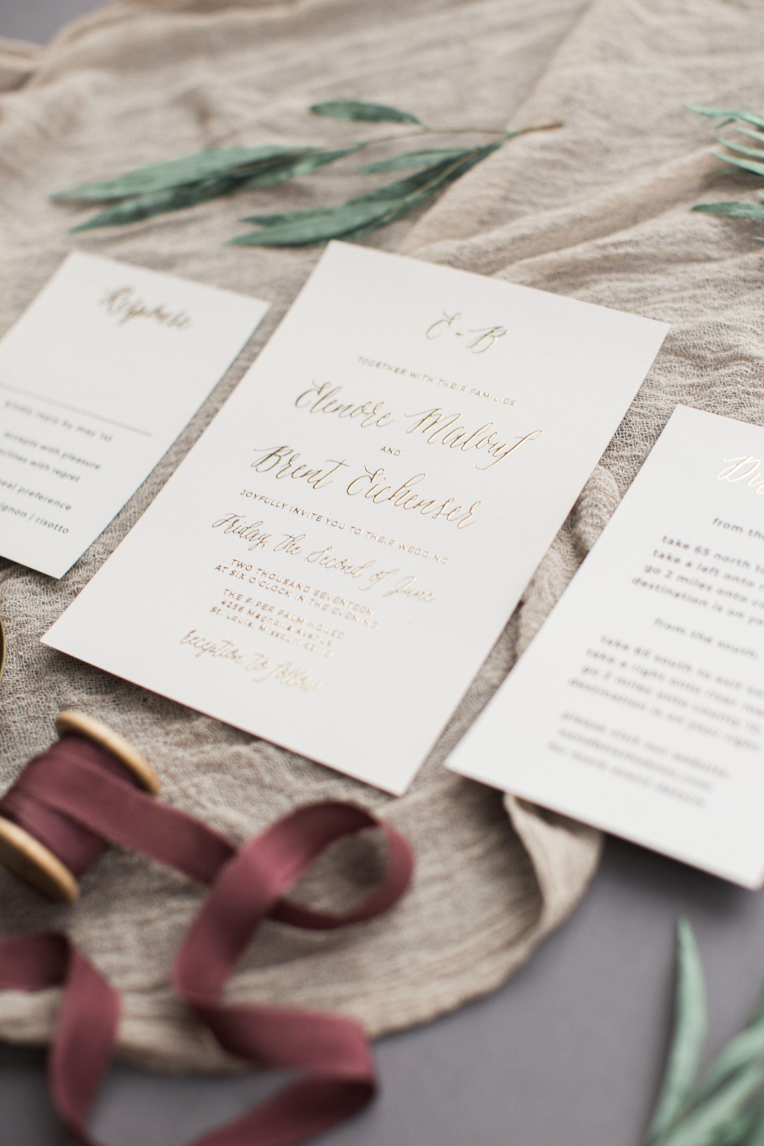 Basic Invite Invitation Suites | Invitation suite, Photo wedding ...