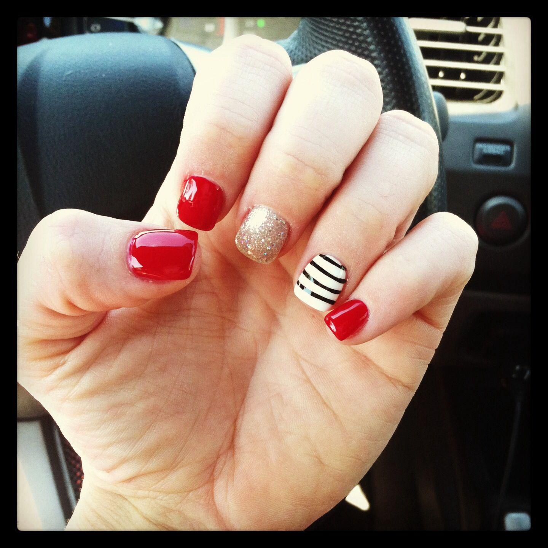 My fun shellac nails | Hair, Make-up, Nails | Pinterest