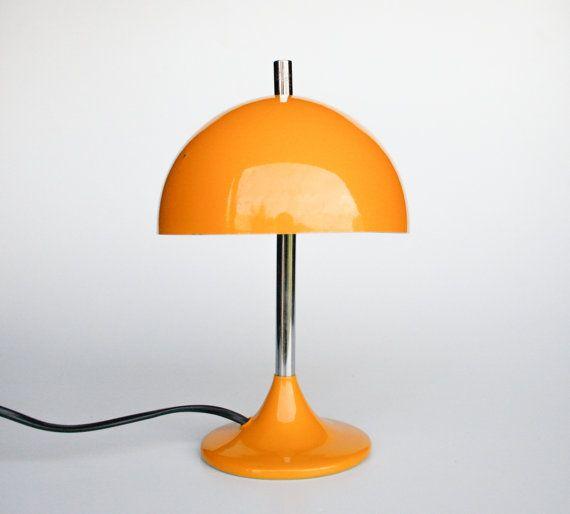 Great Mid Century Modern Mushroom Desk Lamp / Tulip Base Table Lamp / Verner  Panton Style Atomic