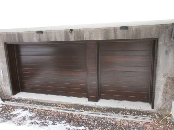 portes de garage en bois portes de garage en bois wooden garage doors pinterest portes. Black Bedroom Furniture Sets. Home Design Ideas