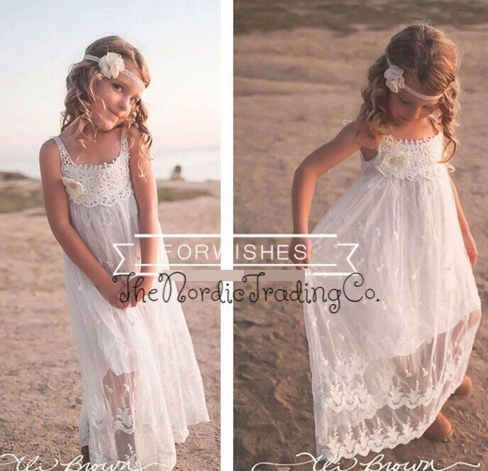 Flower Girl Beach Wedding Dresses: Just What You Are Looking For For Your Rustic, Beach