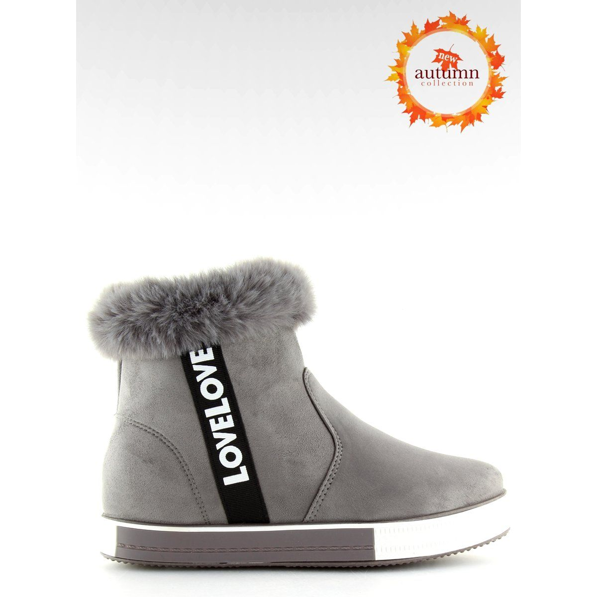 Trampki Za Kostke Ocieplane Szare Nb252p Boots Ugg Boots Fashion