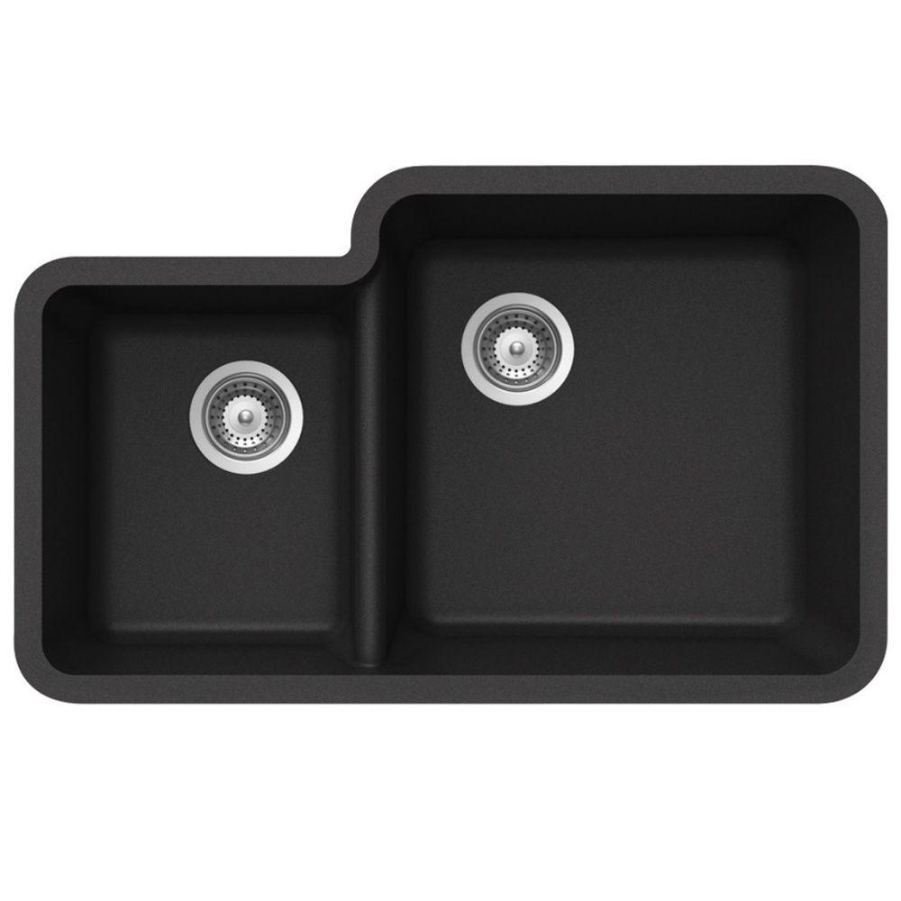 Schock Solido N175 1.75 Bowl Granite Onyx Black Undermount Kitchen ...