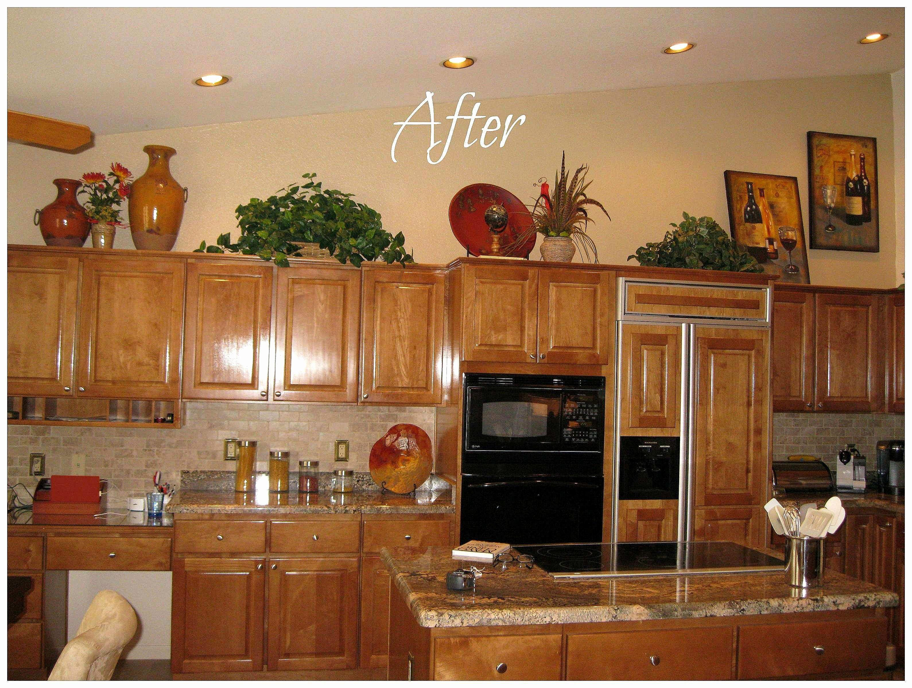 Elegant Apple Kitchen Decor -  Decorating above kitchen cabinets