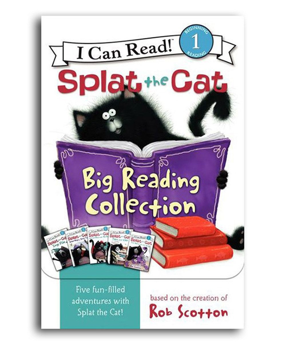 Look at this splat the cat big reading paperback set on