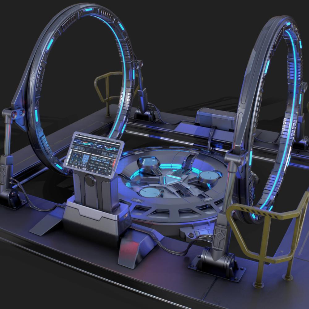 Artstation Time Machine Orest Terremoto Teknologi Futuristik Seni Seni Gif