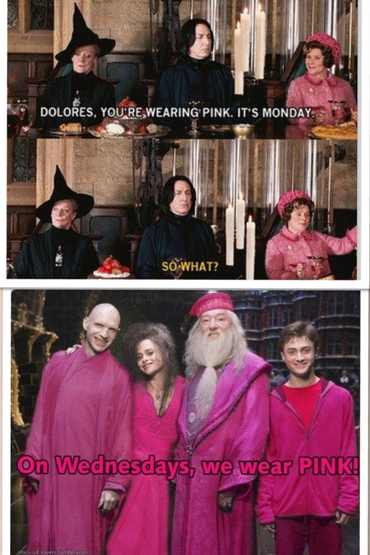 On Wednesdays we wear PINK!! BAHAHAHAHA IM DYING 😂😂