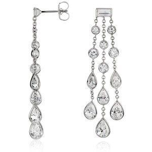 Blue nile dew drop bezel set diamond chandelier earrings in 18k blue nile dew drop bezel set diamond chandelier earrings in 18k white gold aloadofball Images