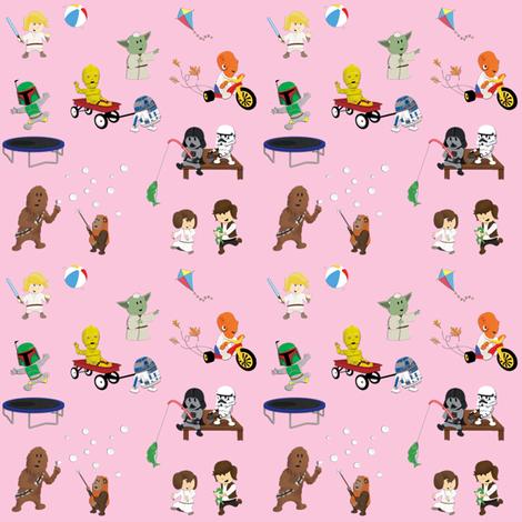 Star Wars Kids - Pink fabric by nixongraphix on Spoonflower ...