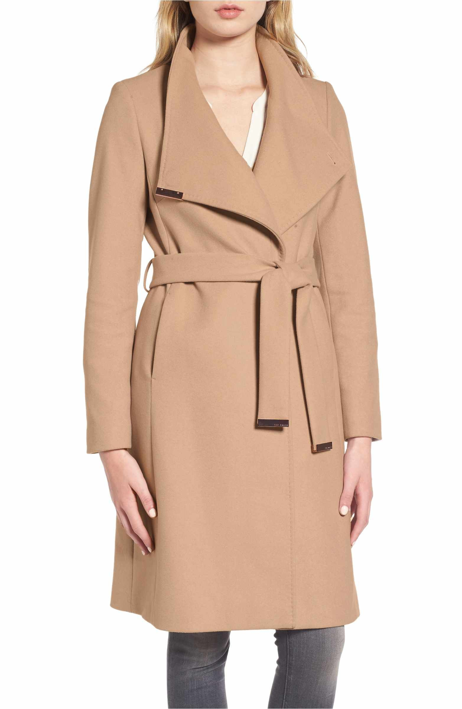 2279f3b64 Main Image - Ted Baker London Wool Blend Long Wrap Coat