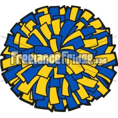 cheerleading pompom vector clipart stock artwork | homcoming