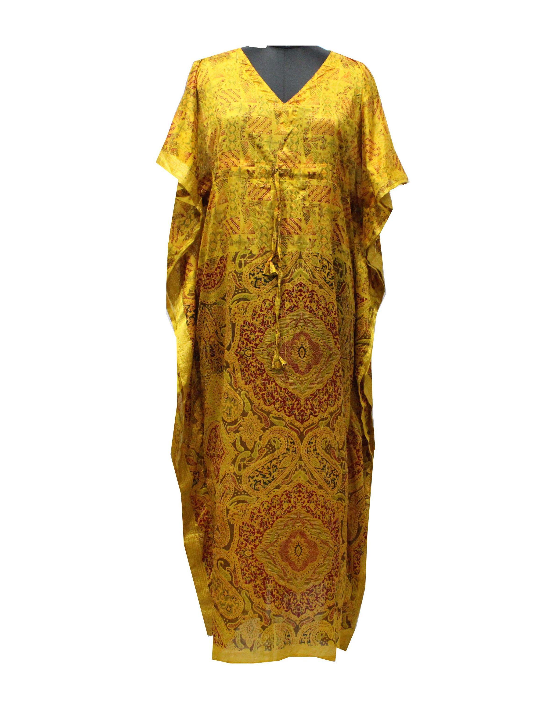 Recycled Fabric Elegant Dress Tunica Dress Night Wear Long Gown Hippie Kaftan Trendy Fashion Beach Wear Evening Dress Autumn Dress #64