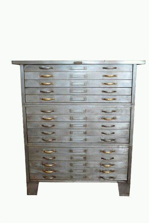 Mixed metal flat file holy hell furniture pinterest metals an old blueprint cabinet such as this one from the is yet another cabinet suitable for storing large prints malvernweather