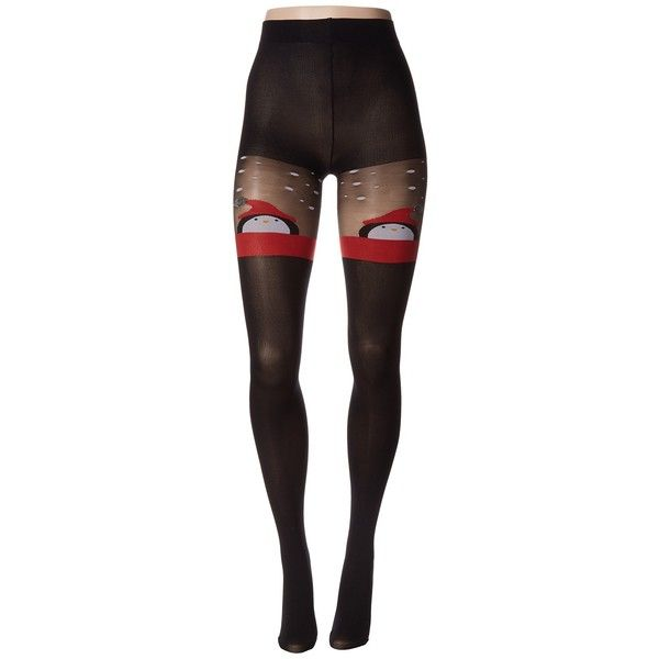 a301b2ed6 Pretty Polly Penguin Tights (Black Mix) Hose ( 20) ❤ liked on Polyvore  featuring intimates