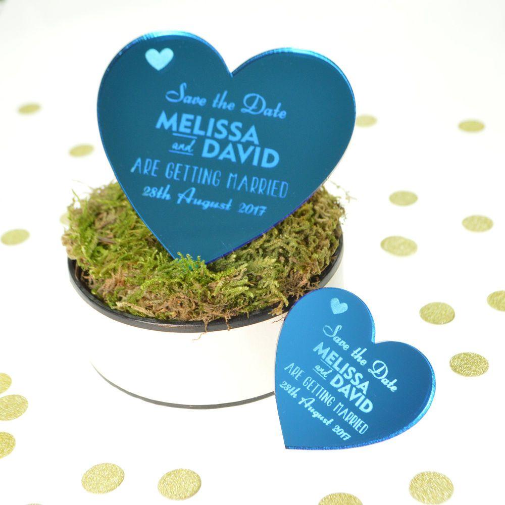 Personalised Save The Date Wedding Invitation Fridge Magnets Acrylic ...