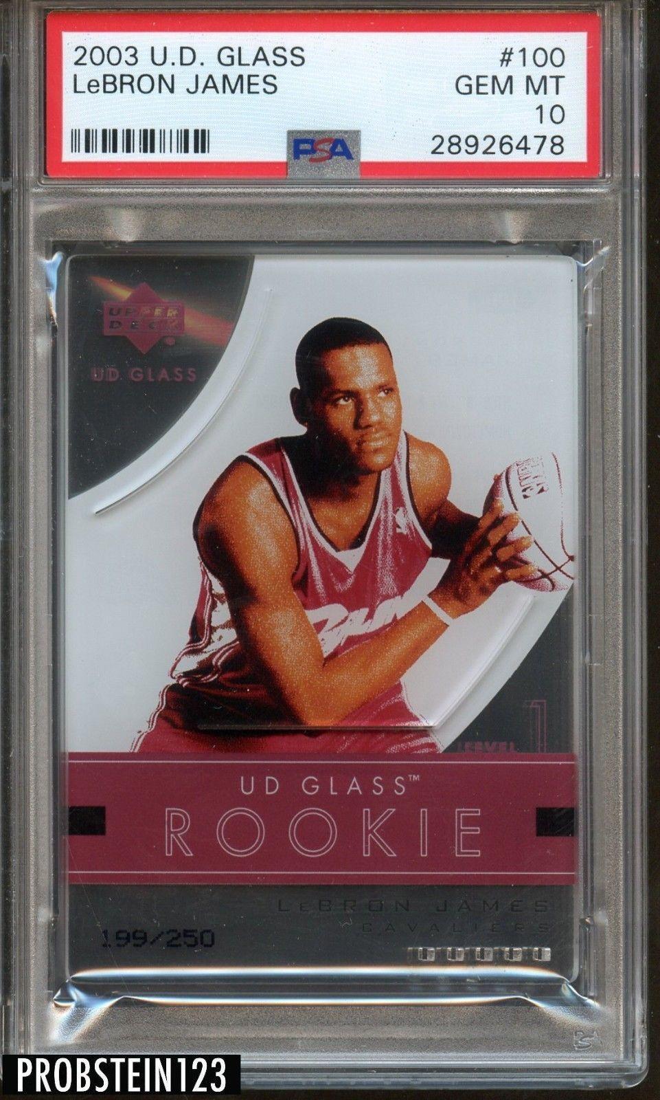 200304 ud glass 100 lebron james cavaliers rc rookie 199