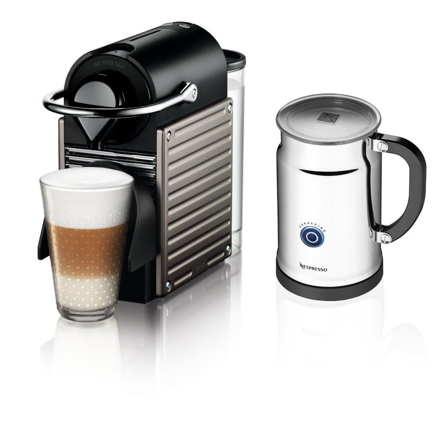 Nespresso Pixie Espresso Maker With Aeroccino By Nespresso Color