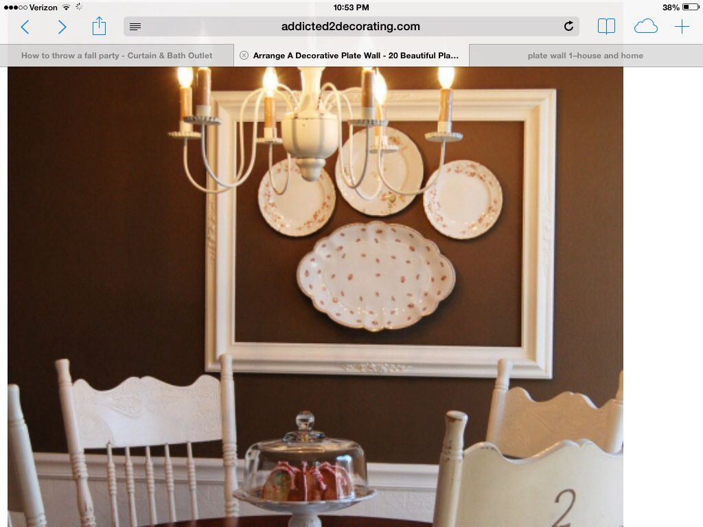 Decorating with plates