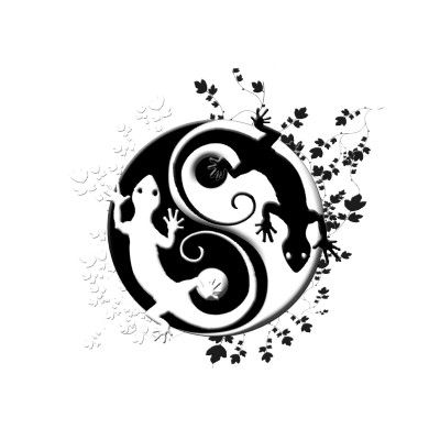 Gecko Yin Yang Bag Tatto Pinterest Tattoos Yin Yang Tattoos