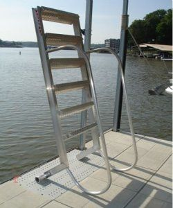 Wet Steps 5 Step Aluminum Dock Ladders With Standard