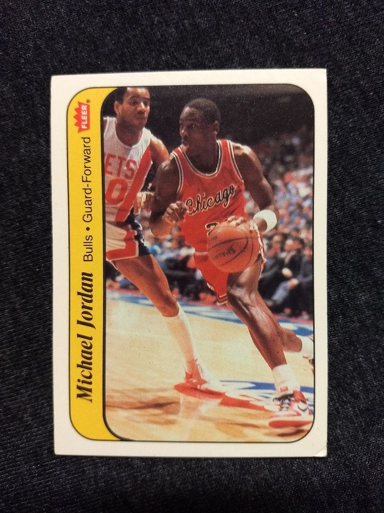 198687 fleer michael jordan basketball sticker card