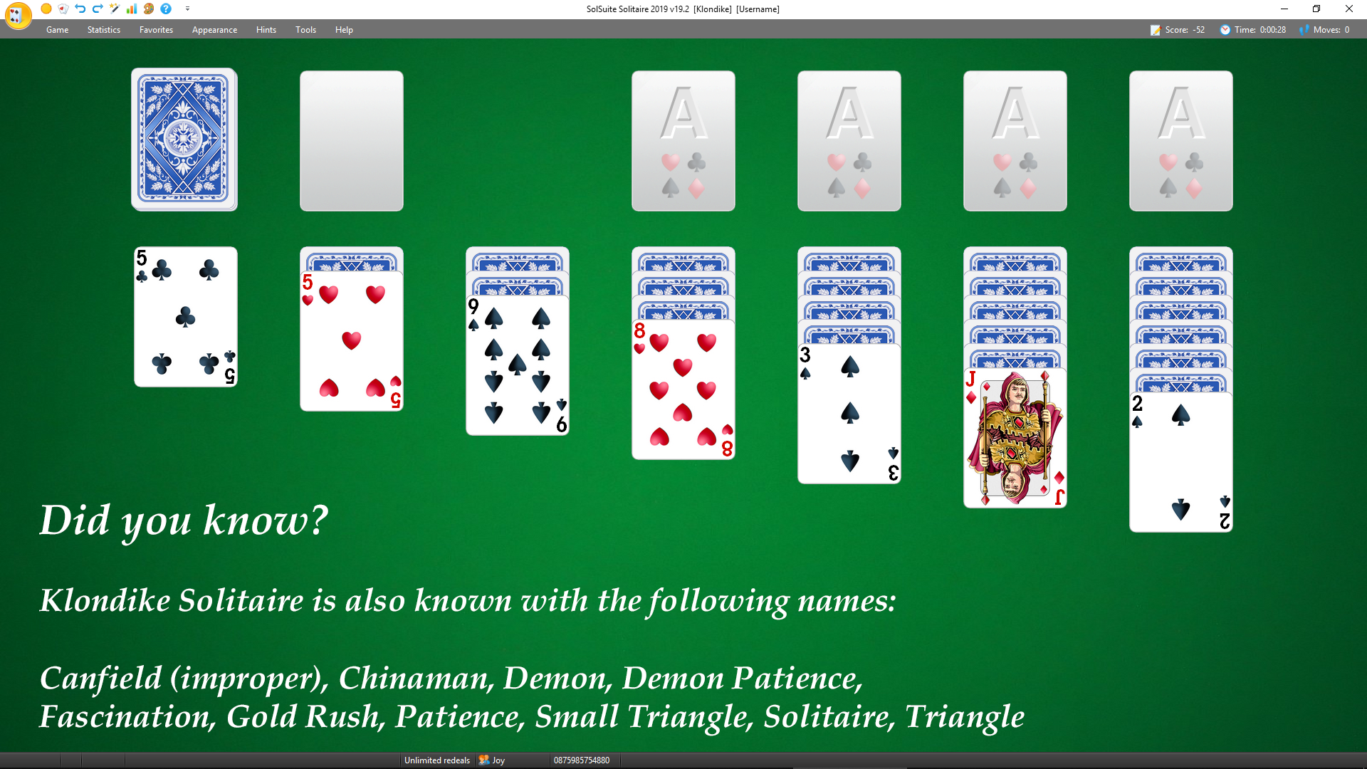 SolSuite Solitaire Klondike in 2019 Solitaire games