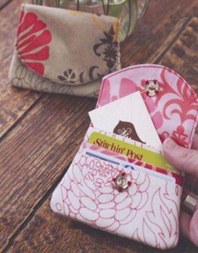 Sewing Card - Little Wallet