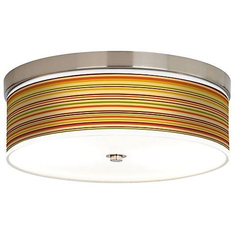 Stacy Garcia Harvest Stripe Giclee Energy Efficient Ceiling Light - Energy efficient kitchen ceiling lighting