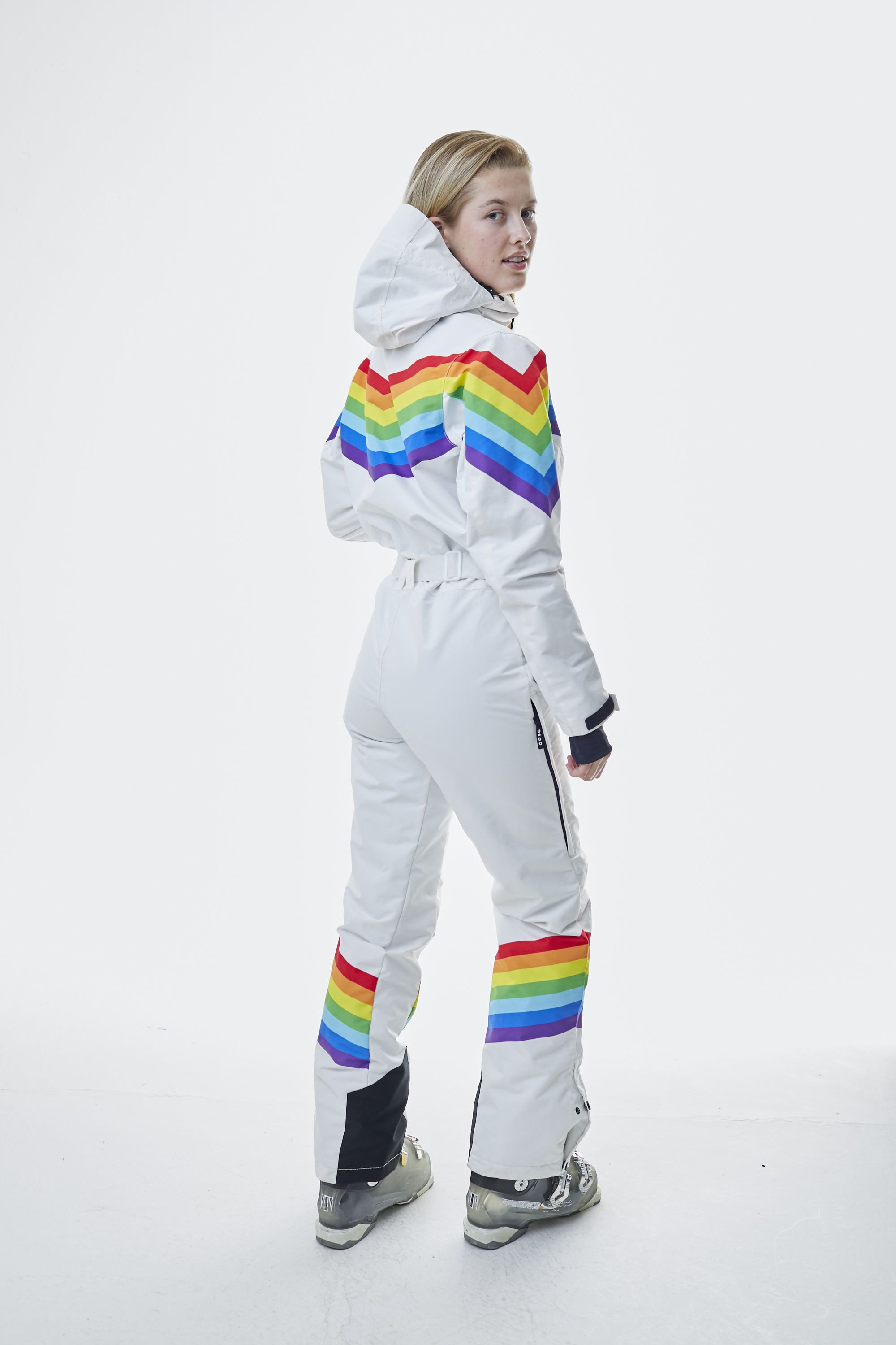 Rainbow Road Women S Ski Suit Oosc Clothing Ski Women Skiing Outfit Clothes