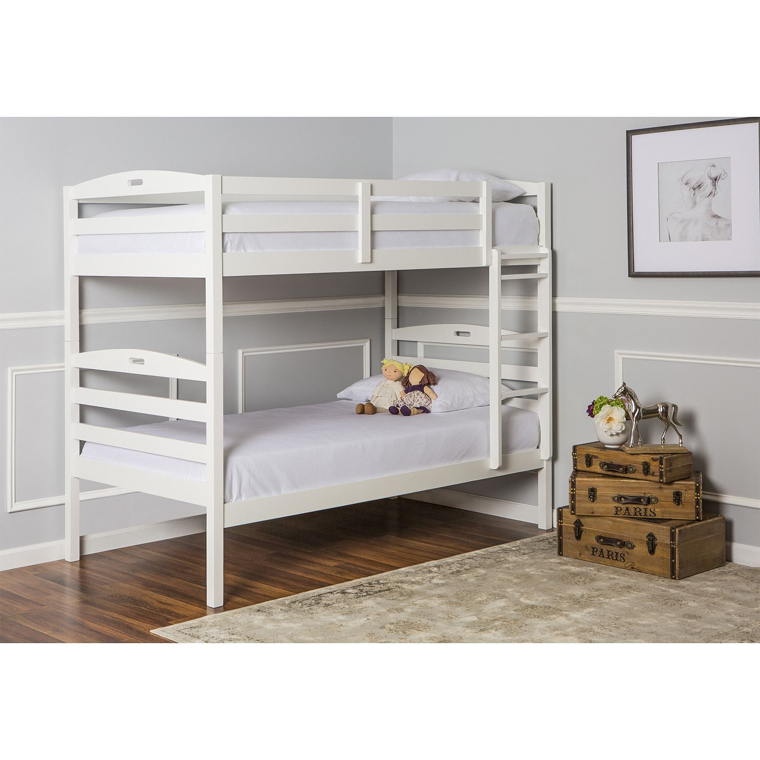 Loft bed twin over queen  Dream On Me Nova in Twin Over Twin Bunk Bed  Products Beds and