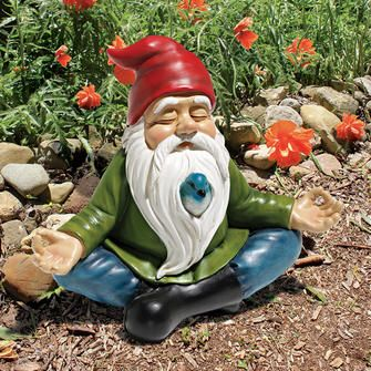 Ommmm Gnome Garden Statues From Classic To Gothic Garden Gnomes Statue Gnome Garden Hippie Garden