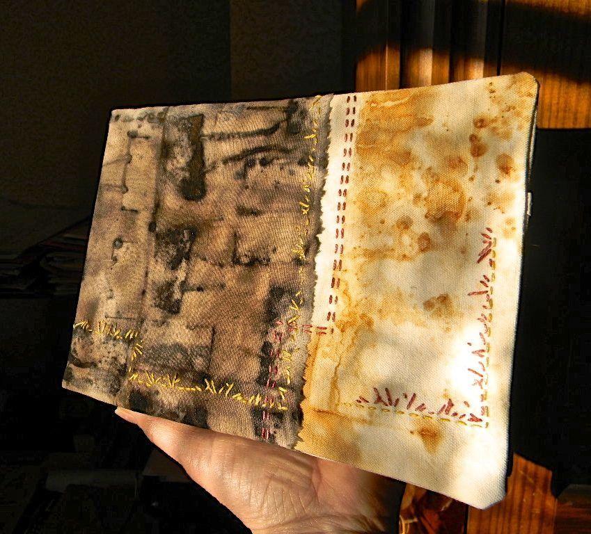 d'artiste, art textile, teintures végétale N°6