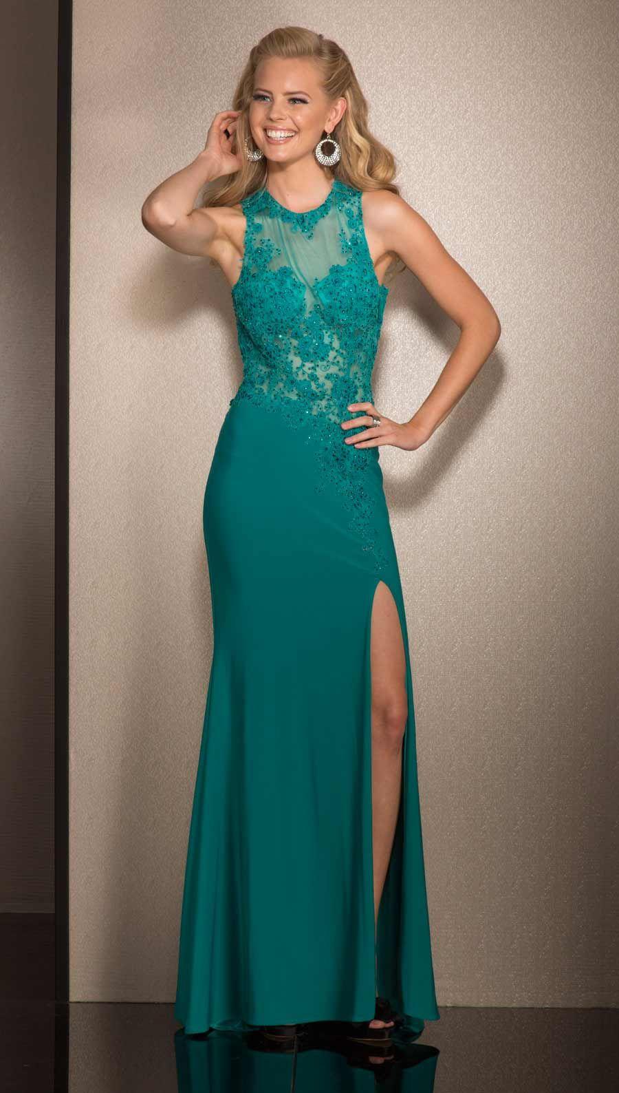 Clarisse Prom Dress 2503 Ivory or Jade | Promgirl.net | elbiseee ...