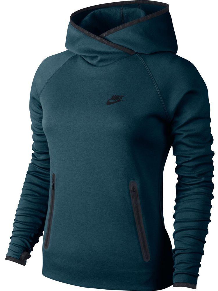 a756ca943c7a Nike Tech Fleece Womens Funnel Neck Hoodie M Space Blue Black  Nike  Hoodie