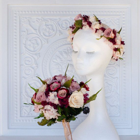 Mauve Dusty Rose Marsala Moss Green Ivory Bridal Bouquet Wedding Centerpiece Pinterest Bouquets And Fern