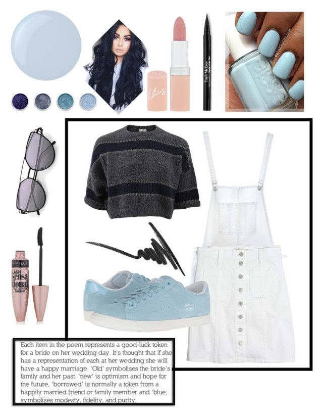 """""""ShadesOfBlue"""" by alannahill4 ❤ liked on Polyvore featuring Brunello Cucinelli, Anine Bing, Madewell, Essie, Onitsuka Tiger, Max Factor, Trish McEvoy, Rimmel, Maybelline and Terre Mère"""