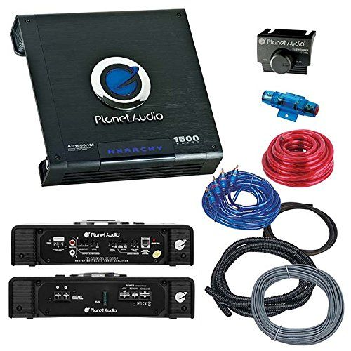 Planet Audio Ac2500 1m Anarchy 2500 Watts Monoblock Class A B 1 Channel 2 Ohm Stable Amplifier