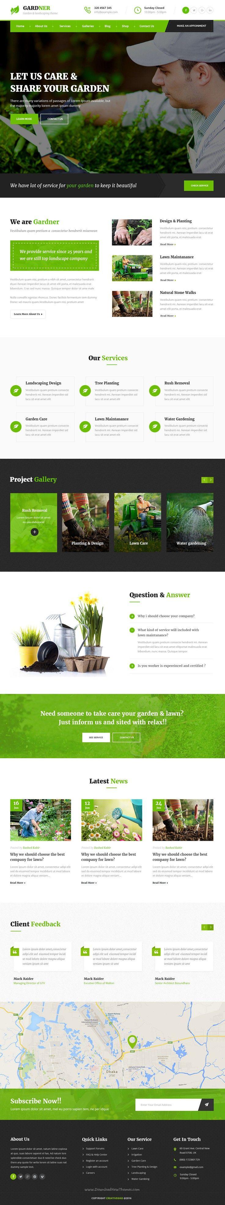 Gardner Garden Landscaping Psd Template Beautiful Website Design Website Design Layout Lawn Care Business Cards