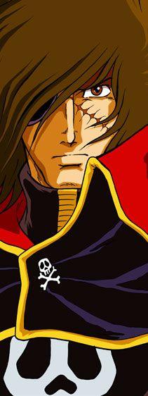 Canvas banner poster Albator atlantis 84 poster arcadia manga harlock figurine