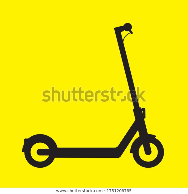 electric scooter silhouette vector icon stock vector royalty free 1751208785 in 2020 silhouette vector vector icons stock vector electric scooter silhouette vector icon