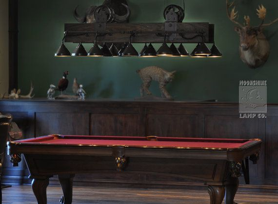This Beautiful Pool Table Light Is Made With Poplar Hardwood, And Rugged  Steel Pipe And Hardware To Give It A Real Old Time Found Object Feel.