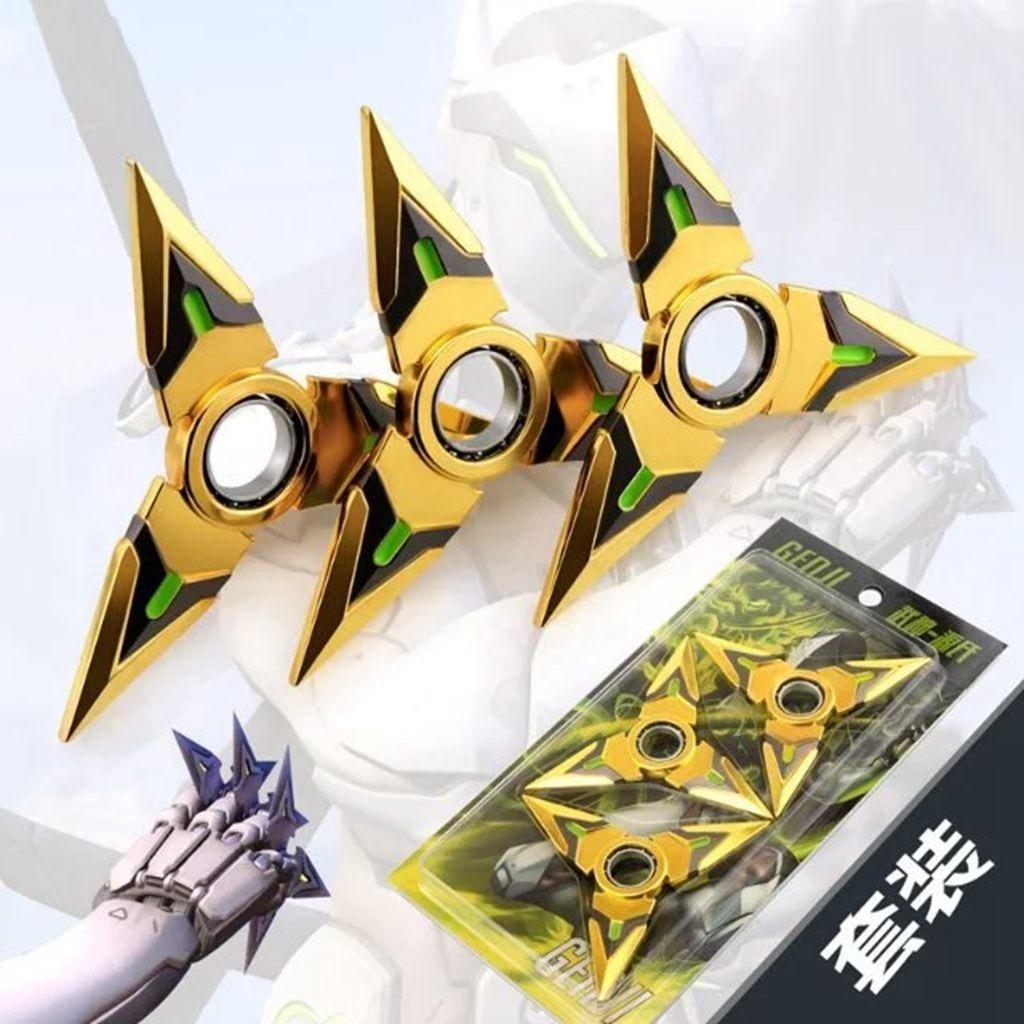 Overwatch Genji Spinnable Shurikens (3 Piece Set) Golden ...
