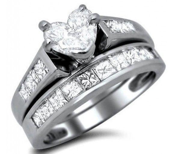 Attrayant Heart Shaped Diamond Wedding Rings Sets   Wedding And Bridal Inspiration