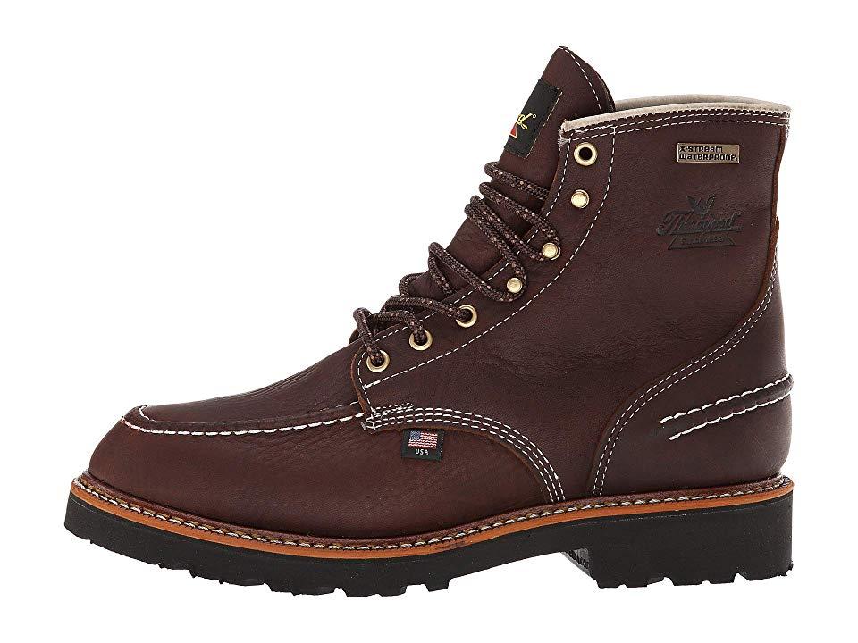 Thorogood Flyway USA 6 Moc Toe Waterproof Men's Work Boots