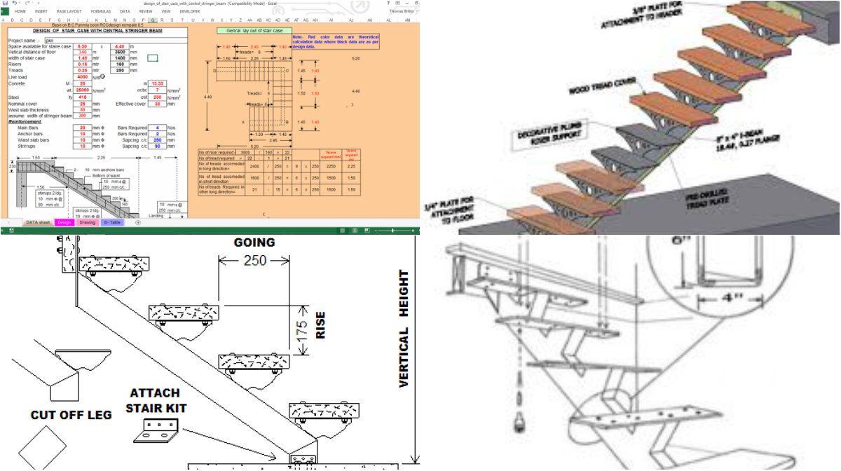 I beam staircase detail