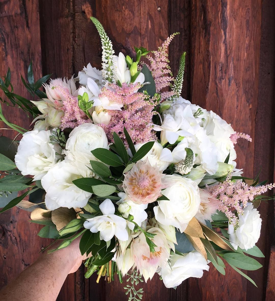 Bouquet by Plum Sage Flowers featuring blushing bride ...