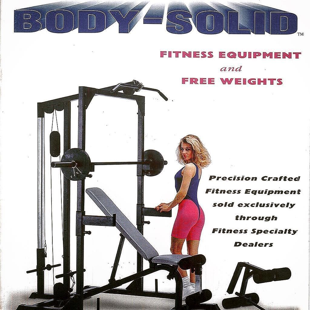 #TBT The cover of our 1993 product catalog  things have changed quite a bit in 23 years! #bodysolid #builtforlife #spandex #fitnessequipment #chicago #forestpark #freeweights #catalog #productcatalog #throwback #throwbackthursday #oldschool