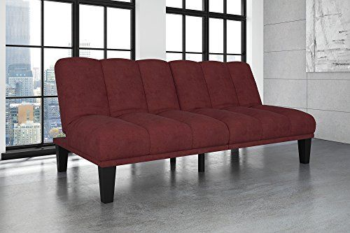 Hamilton Estate Premium Sofa Futon Sleeper Comfortable Plush Upholstery Rich Burgundy
